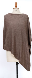 Cashmere Blend Toggle Wrap (Border) - chocolate - m-use
