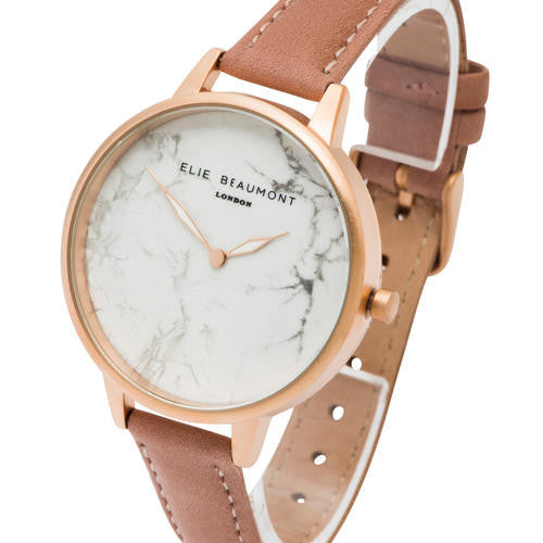 Elie Beaumont Richmond - blush pink nappa leather strap large face - m-use