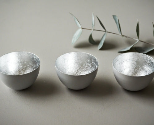 Grey Bowls with Silver Finish - set of three - m-use