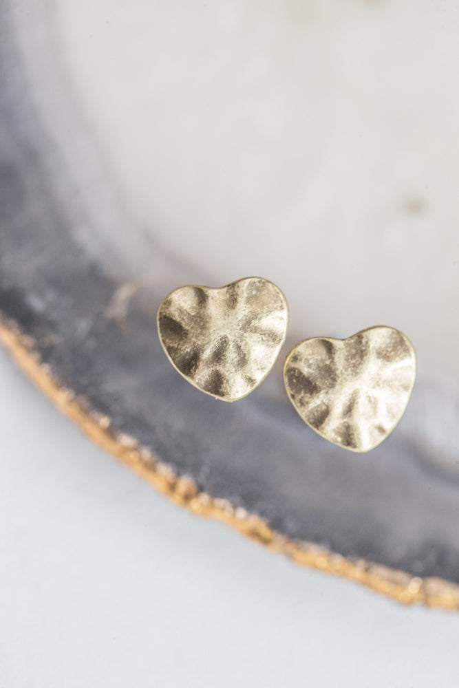 Heart Studs - gold - m-use