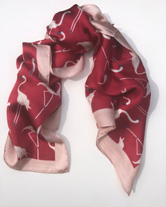 Neckerchief Scarf - Pink/Red Flamingo - m-use