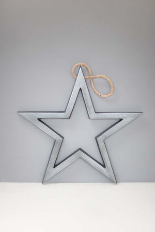 Antique Nickel hanging star - m-use