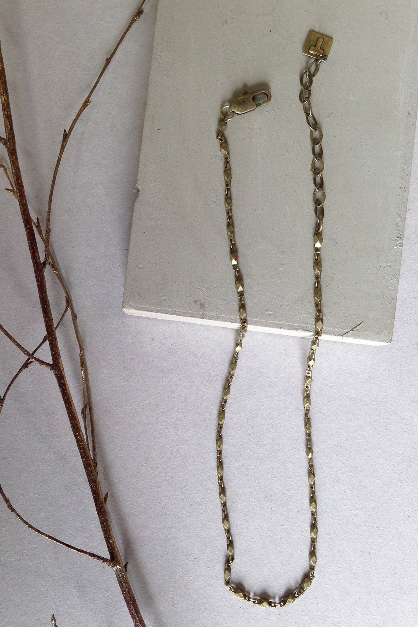 Short Chain Necklace - gold - m-use