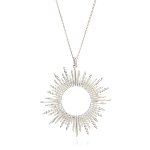 Sunrays Necklace Long - silver - m-use