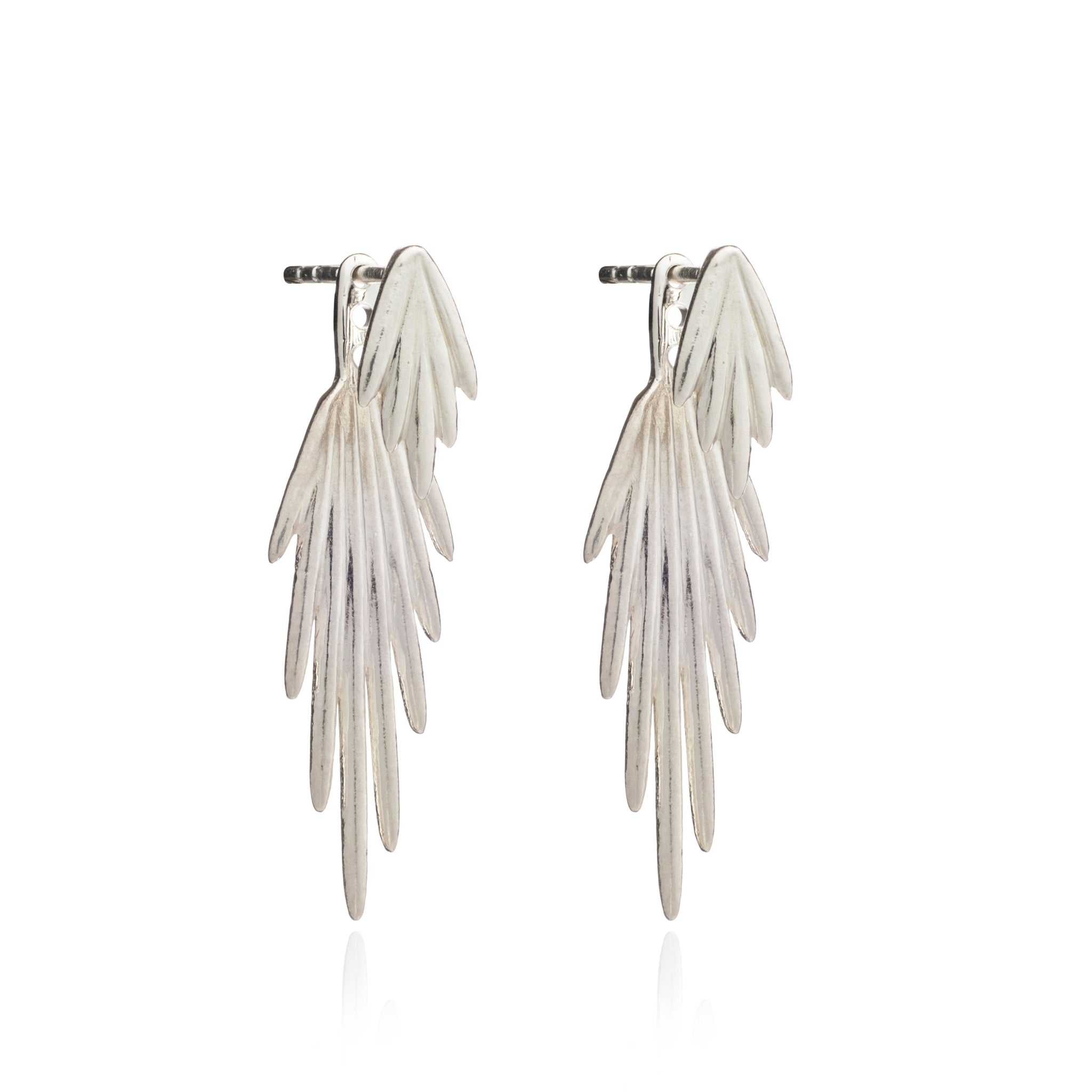 Electric Goddess Jacket Earrings - silver - m-use