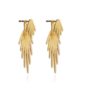 Electric Goddess Jacket Earrings - gold - three ways to wear