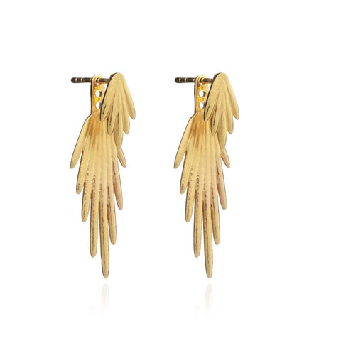 Electric Goddess Jacket Earrings - gold - m-use