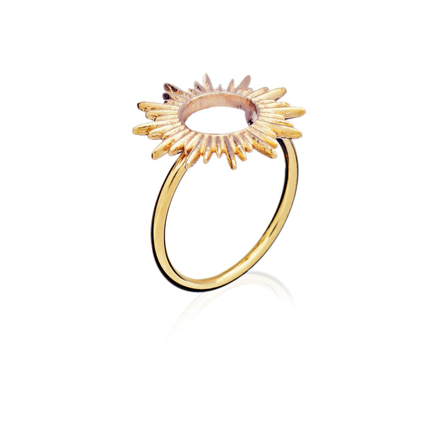 Sunrays Ring Adjustable - gold - m-use