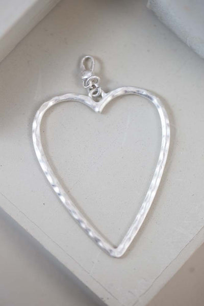 Boe - Open Heart Charm - silver - m-use