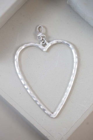 Boe - Open Heart Charm - silver detachable charm