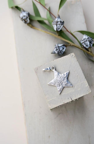 Ariana - Small Solid Star Charm - silver detachable