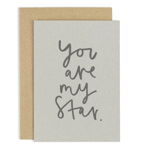 You are My Star - A6 card - m-use