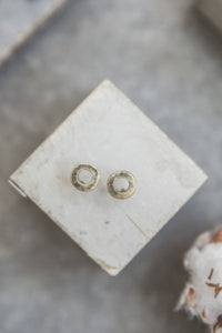 Emma - Open Ring Studs - gold - m-use
