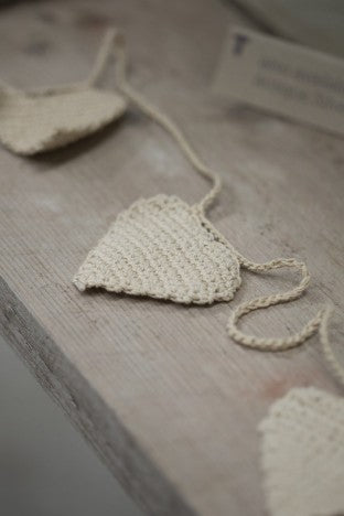 Heart Bunting - stone - m-use