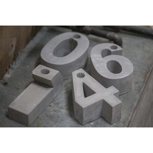 Concrete '0' Candle Holder - m-use