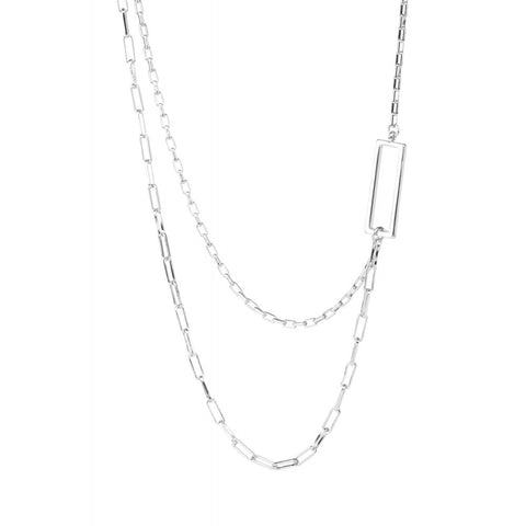 Geometric Necklace - silver - m-use