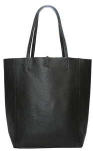 Leather Shopper - black - m-use