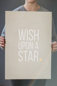 """Wish Upon A Star"" print gold - large - m-use"