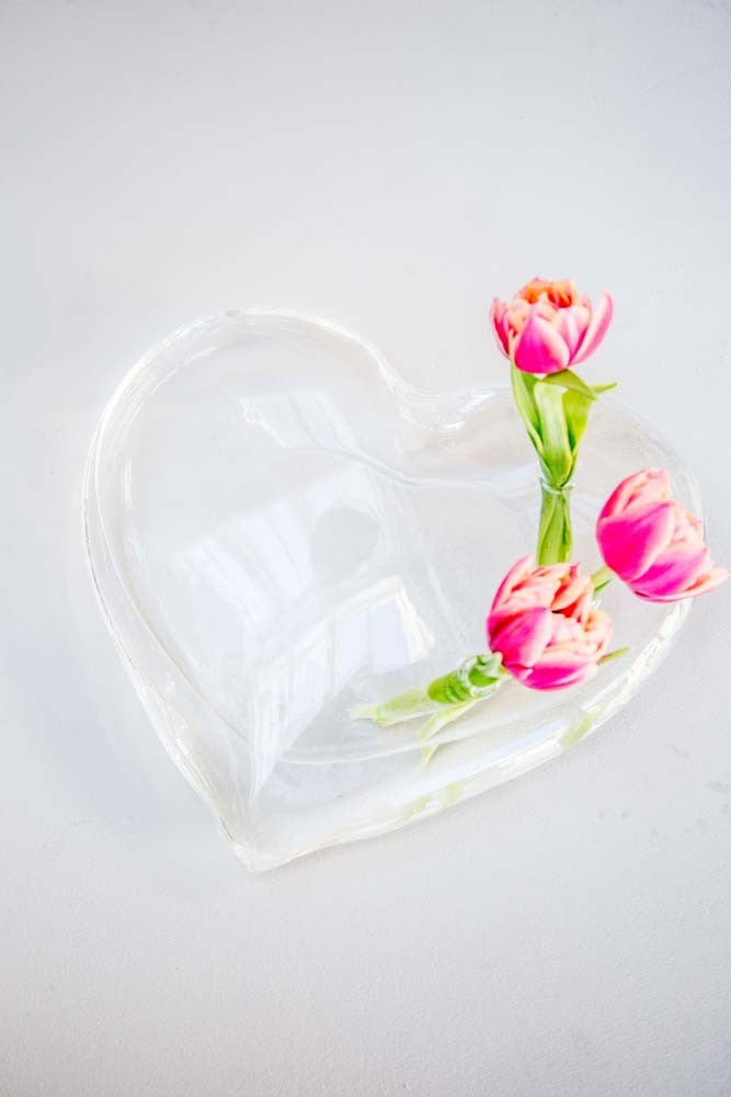 Large Glass Sitting Heart