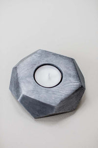 Tea Light Candle Holder - nickel - m-use