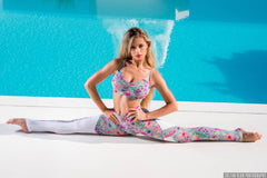 FLOWER POWER SET TOP LEGGINGS