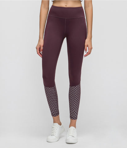 Reflective Running Leggings with Pocket & Tummy Control.