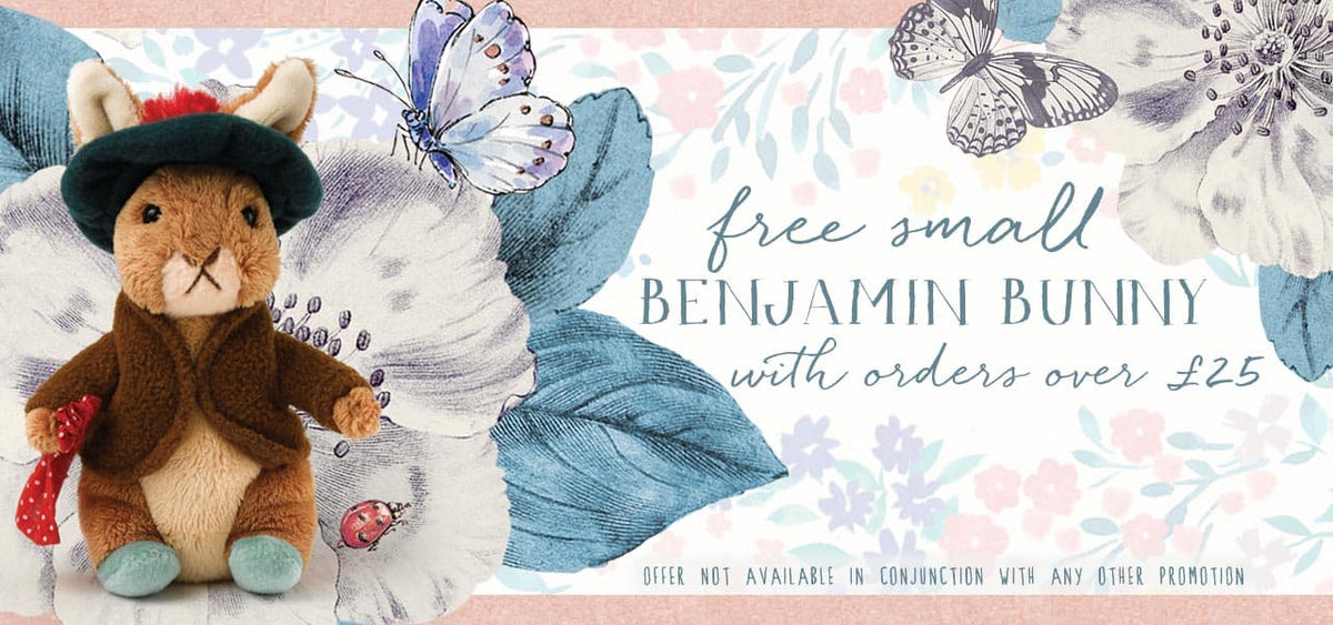 FREE small Benjamin Bunny with orders over £25