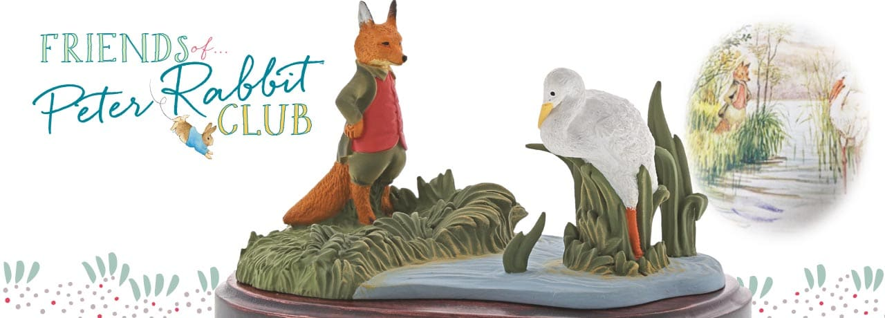 Fox & Stork, this years club Member-only Figurine