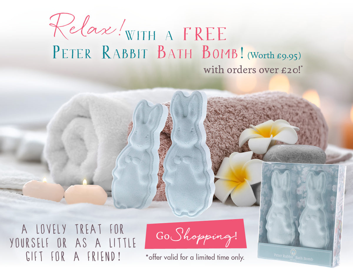 Relax with a FREE bath bomb!