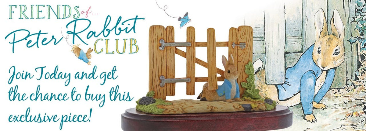 Peter Rabbit Squeezed Under the Gate Exclusive Figurine