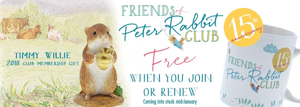 2018 Free Gifts from the Friends of Peter Rabbit Club