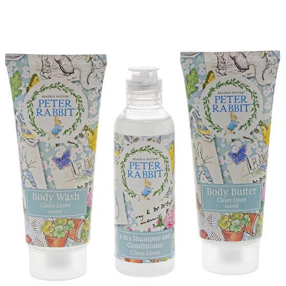 Peter Rabbit Clean Linen Travel Set by Beatirix Potter