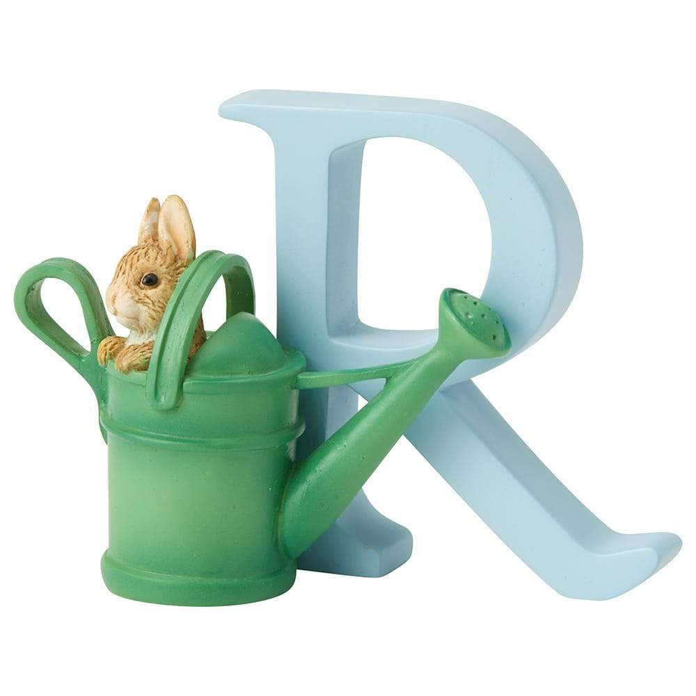 """R"" - Peter Rabbit in Watering Can"