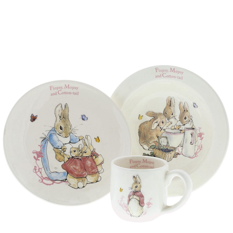 Beatrix Potter Flopsy, Mopsy & Cotton-tail Three-Piece Nursery Set
