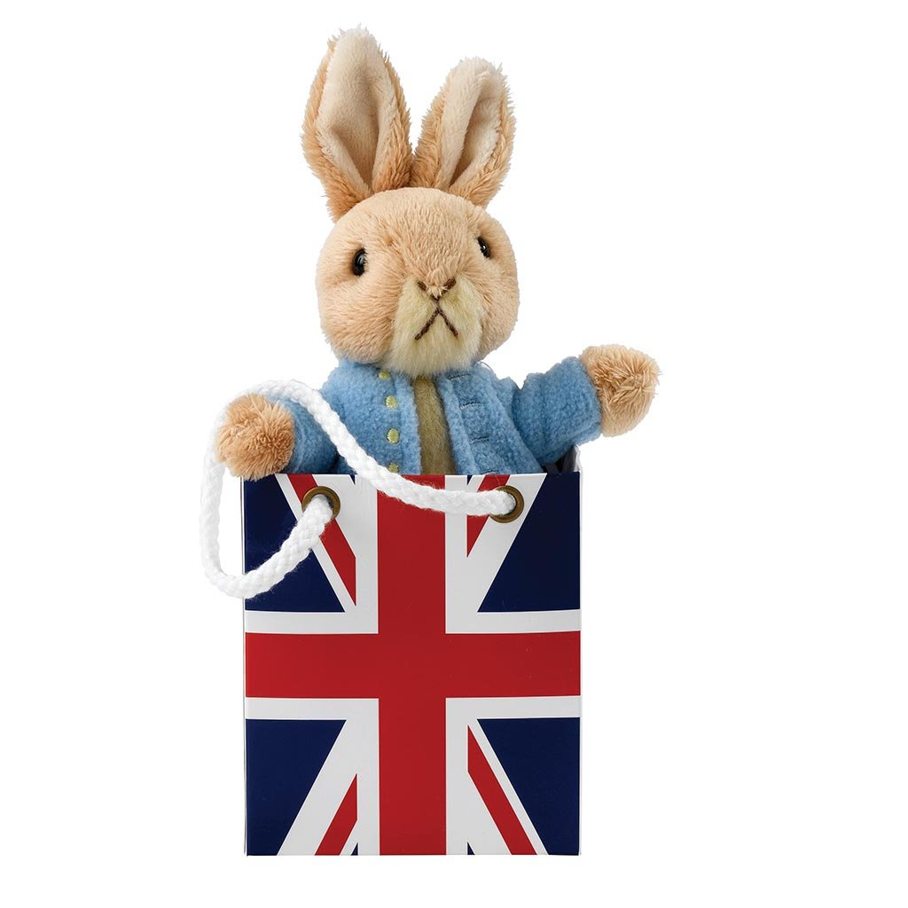 GUND Peter Rabbit in Union Jack Bag Soft Toy