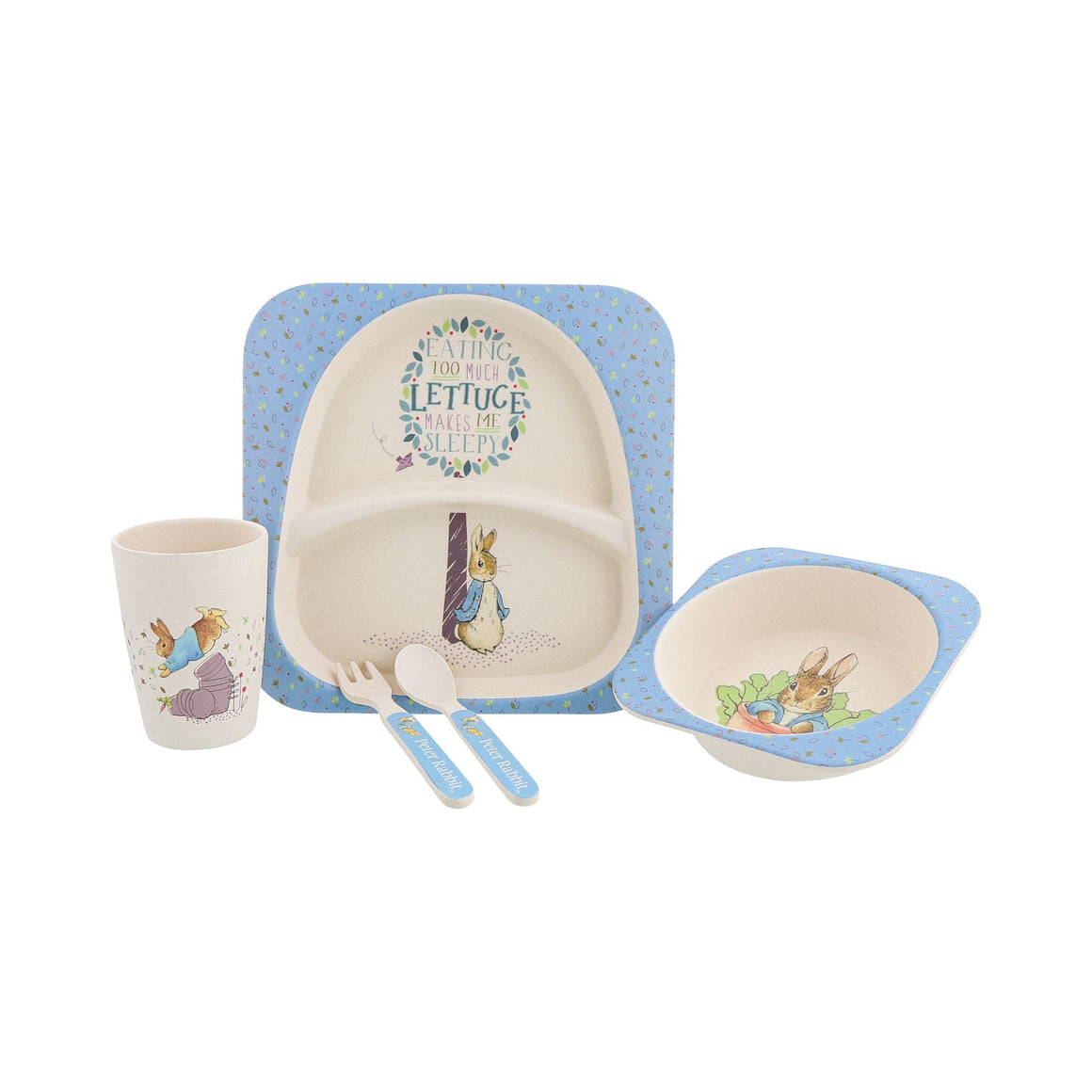 Beatrix Potter Peter Rabbit Bamboo Dinner Set