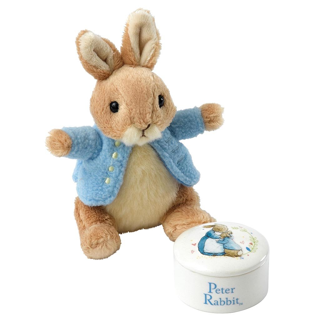 Beatrix Potter Peter Rabbit Trinket Box and Soft Toy Gift Set