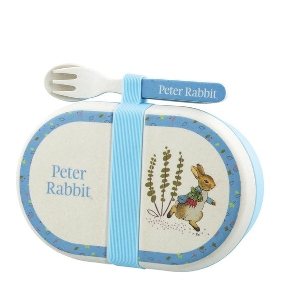 Peter Rabbit Bamboo Snack Box with Cutlery Set by Beatrix Potter