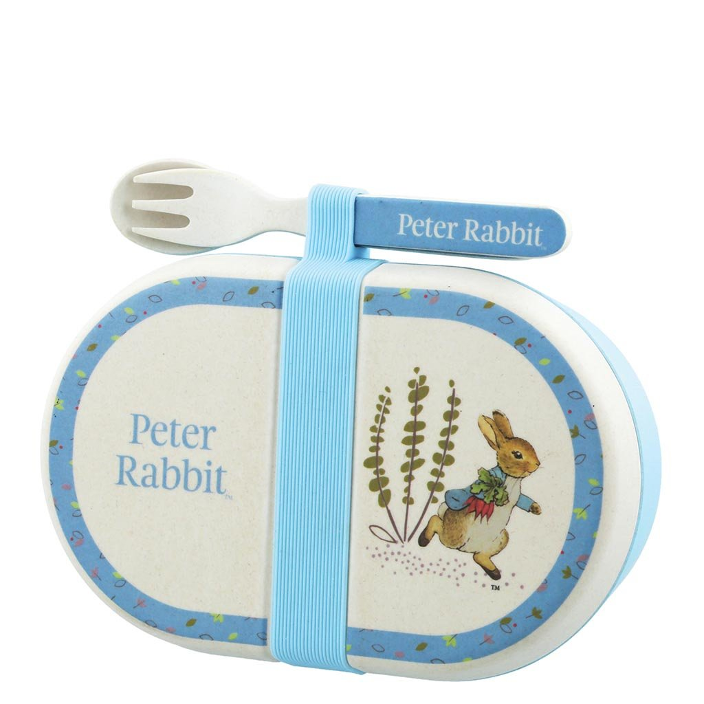 Beatrix Potter Peter Rabbit Bamboo Snack Box with Cutlery Set