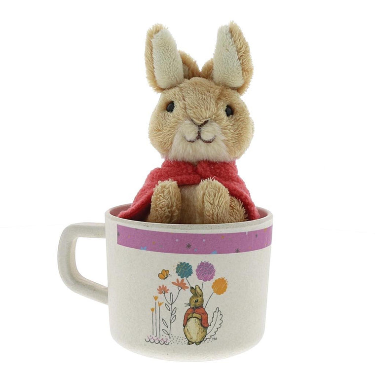 Beatrix Potter Flopsy Organic Bamboo Mug & Soft Toy Gift Set