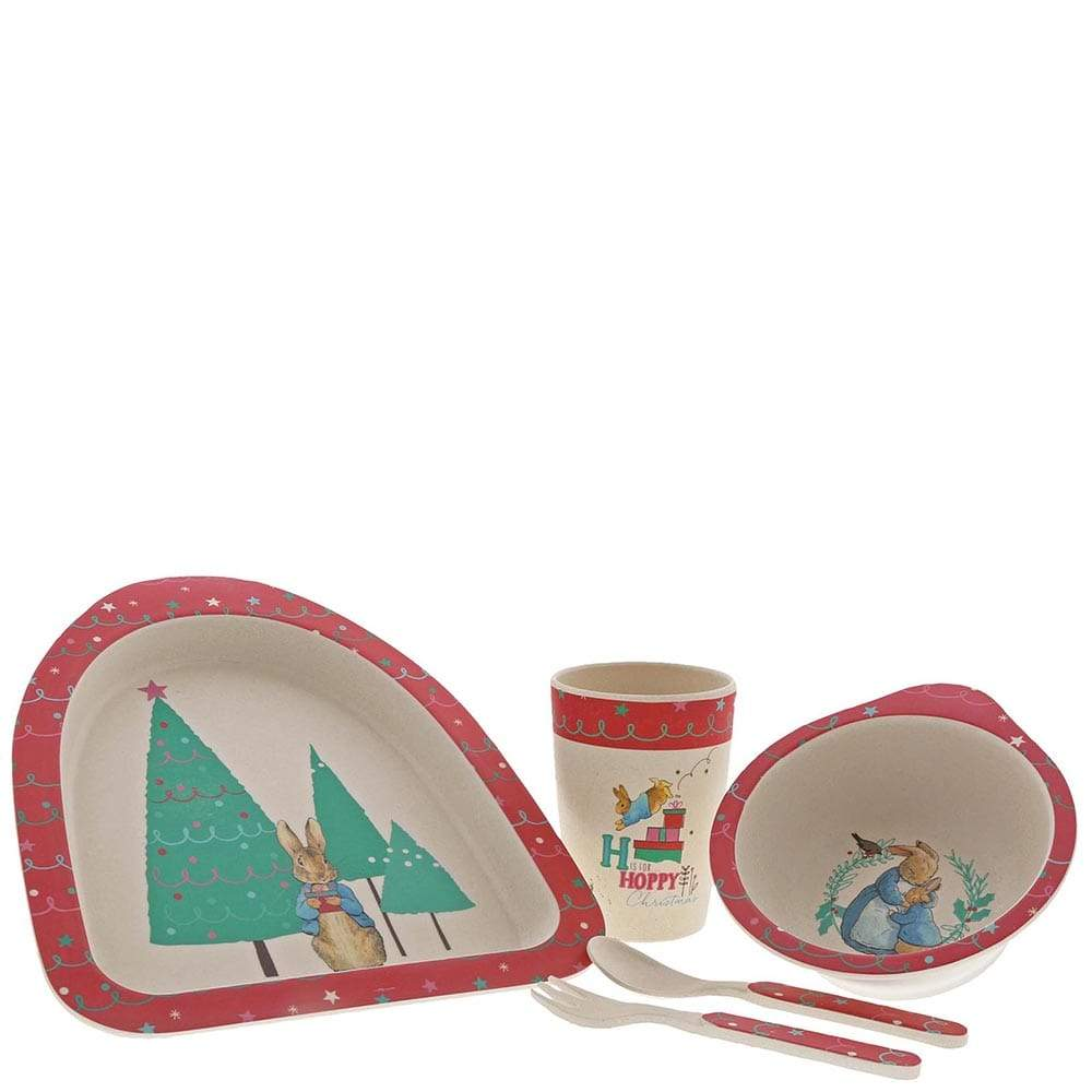Peter Rabbit Christmas Bamboo Dinner Set by Beatrix Potter