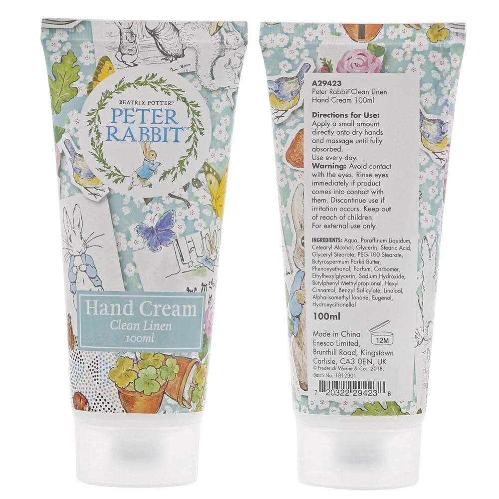 Peter Rabbit Clean Linen Hand Cream 100ml by Beatrix Potter