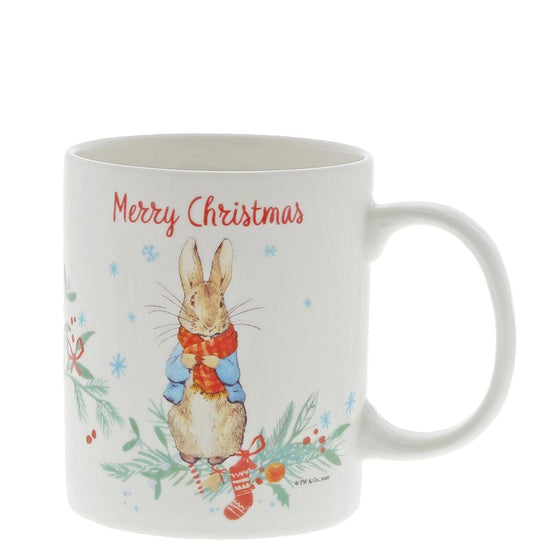 Peter Rabbit Christmas Mug by Beatrix Potter