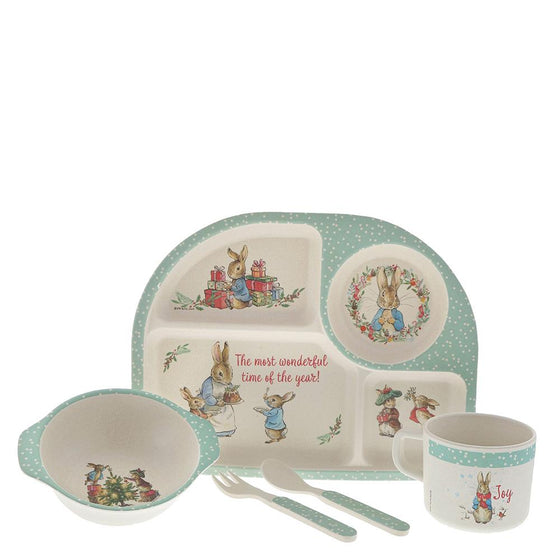 Peter Rabbit Bamboo Christmas Dinner Set by Beatrix Potter