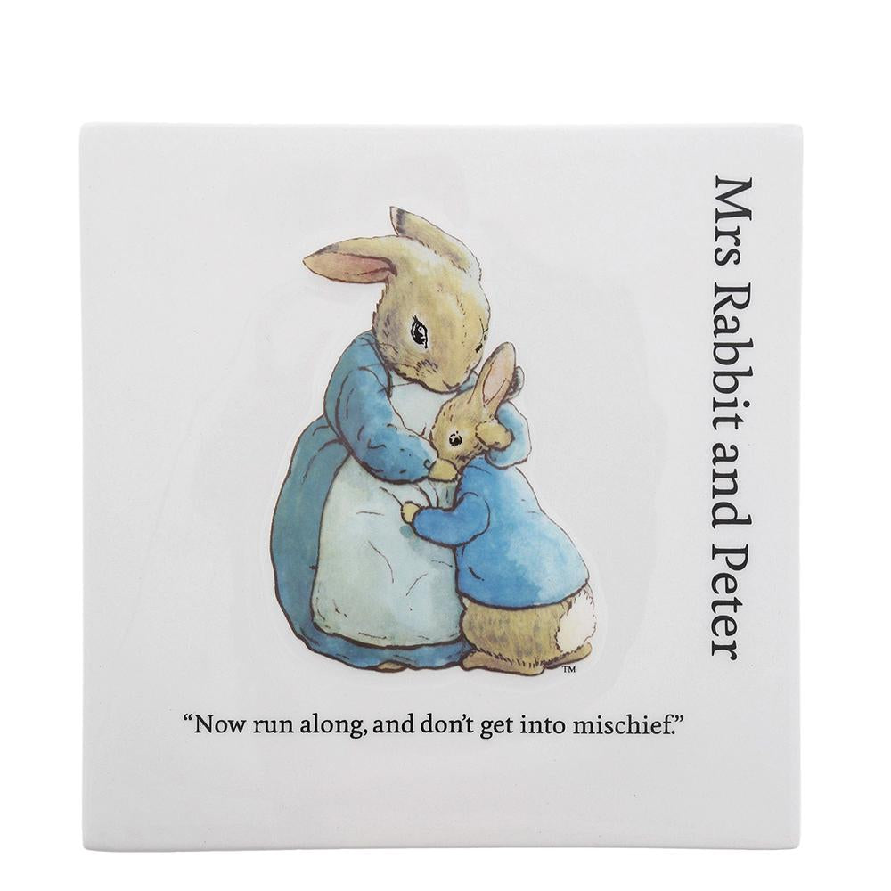 Mrs. Rabbit and Peter Decorative Wall Plaque by Beatrix Potter