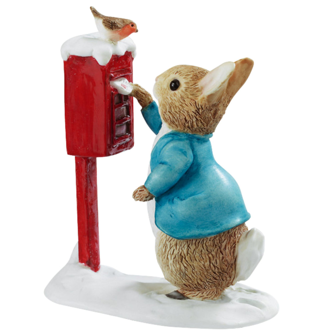 Beatrix Potter Peter Rabbit Posting a Letter Figurine