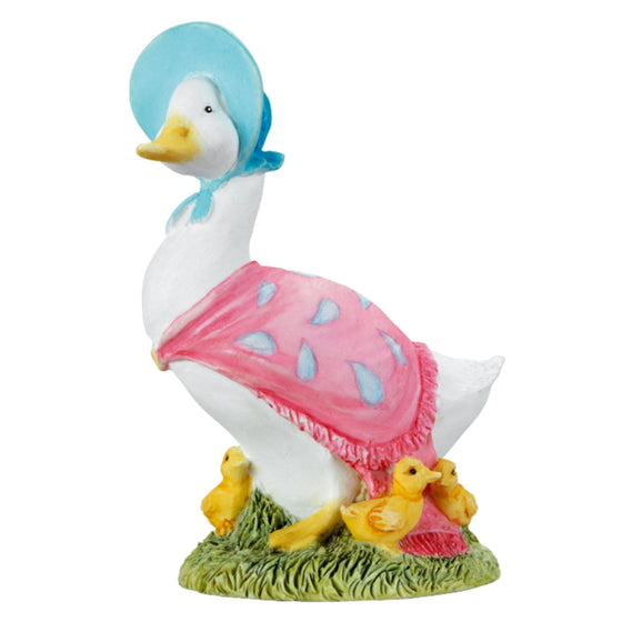 Jemima Puddle-Duck with Ducklings Figurine by Beatrix Potter