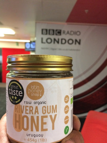 23. A jar of Rivera Gum at the BBC Radio London studios