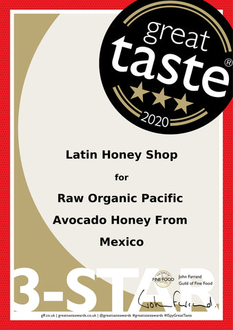 Great Taste Award Three Star by Guild of Fine Food UK Honey