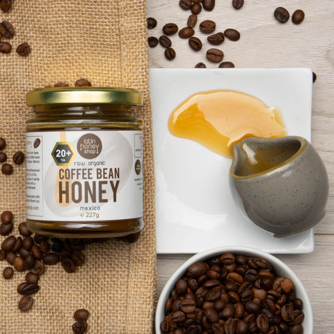 Coffee Bean Honey Active 20+ Raw Organic Latin Honey Shop